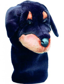 Daphne's HeadCovers: Rottweiller Dog Golf Club Cover