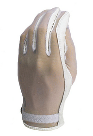 Evertan: Women's Tan Through Golf Glove - White Pearl