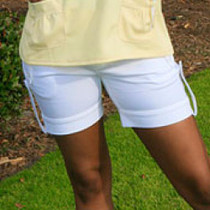 Green Tee Apparel: PRIMO Women's Cuffed Golf Shorts (Size 2) - SALE