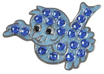 Navika: Swarovski Crystals Ball Marker & Hat Clip - Blue Bird