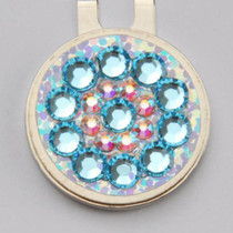 Blingo Ball Markers: Light Blue on Silver Glitter