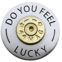 ReadyGolf: Do You Feel Lucky 44 Magnum Ball Marker & Hat Clip