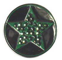 BELLA Swarovski Crystal Ball Marker & Hat Clip - STAR - Emerald