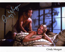 """Cindy Morgan """"Lacey Underall"""" Signed 8x10 Caddyshack Photo - Bedroom/Chevy Chase"""