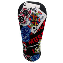 BeeJos: Golf Head Cover - Black Jack Casino