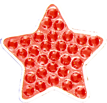 BELLA Swarovski Crystal Ball Marker & Hat Clip - Star Red