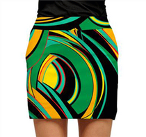 Loudmouth Golf: Womens Skort - Bent Grass
