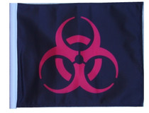 SSP Flags: 11x15 inch Golf Cart Replacement Flag - Biohazard Red