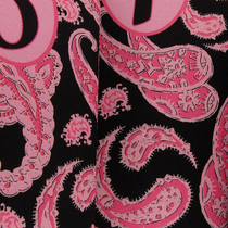 BeeJo's: Golf Headcover - Black & Pink Paisley ***SHIP DATE JULY 6***