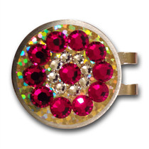 Blingo Ball Markers: Garnet on Gold Glitter
