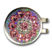 Blingo Ball Markers: Pink on Silver Glitter