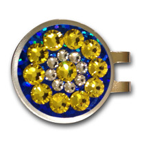 Blingo Ball Markers: Yellow on Blue Glitter