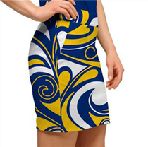 Loudmouth Golf: Women's Skort - Blue & Gold Splash