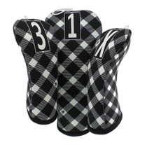 BeeJos: Golf Head Cover - Bow Tie Plaid Golf