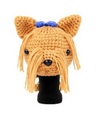 Amimono Animal Golf Driver Headcover - Light Brown/Blue Terrier Dog (D022-B)
