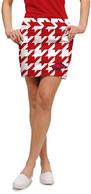 Loudmouth Golf: Womens Skort - Arkansas Razorbacks Logoed Red Tooth