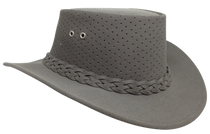 Aussie Chiller Outback Bushie Perforated Hat - Grey