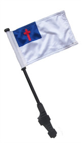 SSP Flags: Small 6x9 inch Golf Cart Flag with EZ On/Off Pole Bracket - Christian