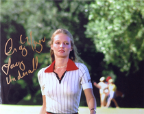 """Cindy Morgan """"Lacey Underall"""" Signed 8x10 Caddyshack Color Photo - Lacey Struts"""
