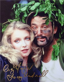 "Cindy Morgan ""Lacey Underall"" Signed 8x10 Caddyshack Color Photo - Lacey & Carl"