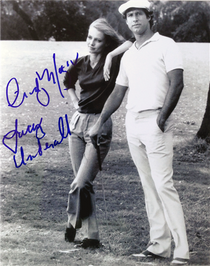 "Cindy Morgan ""Lacey Underall"" Signed 8x10 Caddyshack Photo - Lacey & Ty Webb"