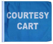 SSP Flags: 11x15 inch Golf Cart Replacement Flag - Courtesy Cart