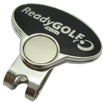 ReadyGolf: Caution Curves Ahead Ball Marker & Hat Clip with Crystals