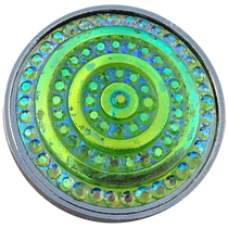 ReadyGolf: Rainbow Effects Rings Crystal Ball Marker - Lawn Green