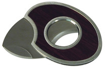 Egg 1 Oval Shaped Single Blade Cigar Cutter with Rosewood Inlay