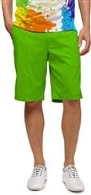 Loudmouth Golf: Men's Shorts - Element Jasmine Green - SALE
