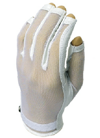 Evertan: Women's Tan Through Three Quarter Golf Glove - Pearl White