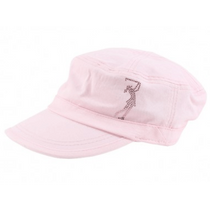 Dolly Mama: Ladies Fidel Military Cap - Golf Girl on Pink