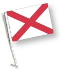 SSP Flag: Car Flag with Pole - State of Alabama