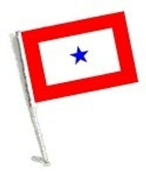 SSP Flags: Car Flag with Pole  - Blue Star