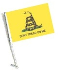 SSP Flags: Car Flag with Pole - Don't Tread on Me