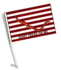 SSP Flag: Car Flag with Pole - First Navy Jack