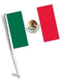 SSP Flags: Car Flag with Pole - Mexico