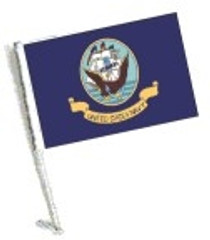 SSP Flags: Car Flag with Pole - Navy