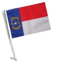 SSP Flags: Car Flag with Pole - State of North Carolina