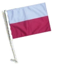 SSP Flags: Car Flag with Pole - Poland