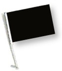 SSP Flags: 11x15 inch Golf Cart Flag with Pole - Black