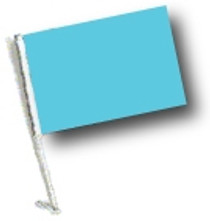 SSP Flags: Car Flag with Pole - Light Blue / Sky Blue