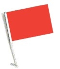 SSP Flags: Car Flag with Pole - Red