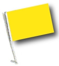SSP Flags: Car Flag with Pole - Yellow