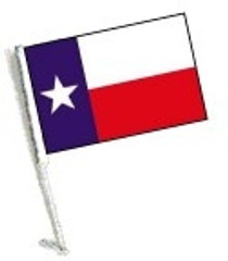 SSP Flags: Car Flag with Pole - Texas