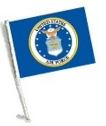 SSP Flags: Car Flag with Pole - Licensed U.S. Air Force Coat of Arms