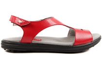 Sandbaggers: Women's Golf Sandals - Carrie Red