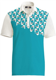 Loudmouth Golf Mens Polo - Fancy Bodega Bay
