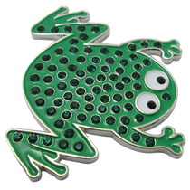 ReadyGolf: Frog Ball Marker & Hat Clip with Crystals