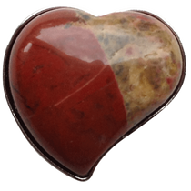 ReadyGolf: Gemstone Heart Shaped Ball Marker - Flame Jasper
